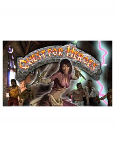 Quest for Heroes  |  Cover and cards for prop boardgame in an film